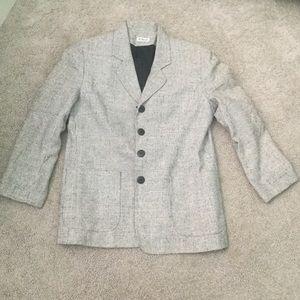 Doncaster Silks 100% Silk Black, White Blazer